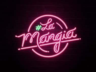 #LAMANGIA LOGO