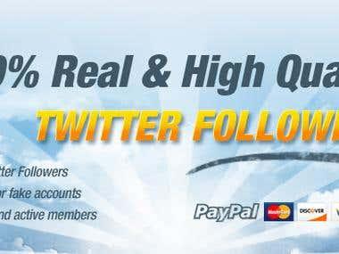 Twitter Followers package