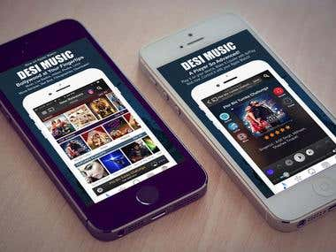 DESI MUSIC - Online Music player App
