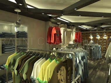 Cloth Showroom Interior Design