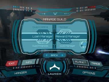 SI FI theme Game UI, HUD Design