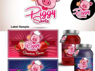 Piggy Shot Logo and the Label