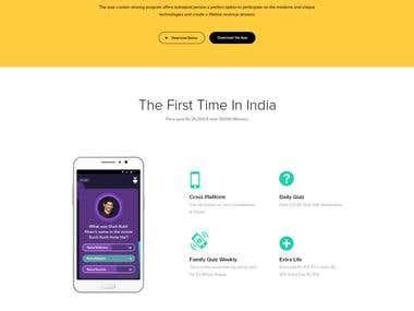 Quiz App Landing Page