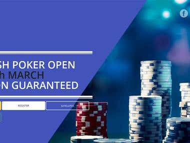 IRIS POKER Website Design