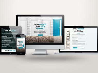 Brand identity, logo design + website