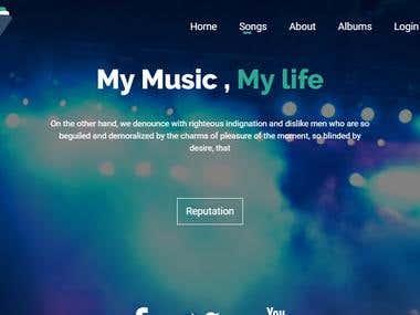 Music Sharing Site