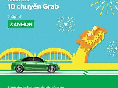 Facebook ads for Grab Vietnam