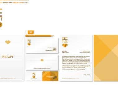 Stationery Design. Set of logo, envelope, business cards and