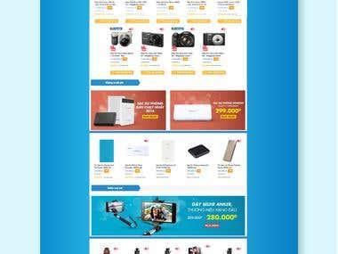 Promotion Landing Page for tiki.vn