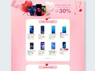 Promotion Landing Page for Valentine day