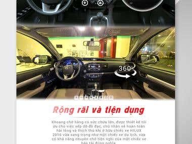 Landing Page for Toyota Nha Trang