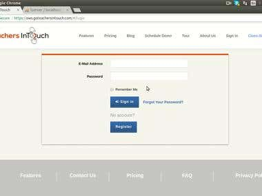Individual User Interface - TeachersInTouch