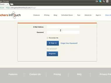 School User Interface - TeachersInTouch