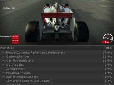 Car racing game.