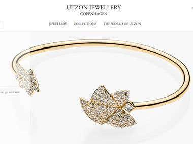 Utzon Jewellery magento website