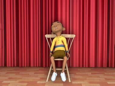 3d school boy animation