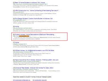 1st page ranking in google.com