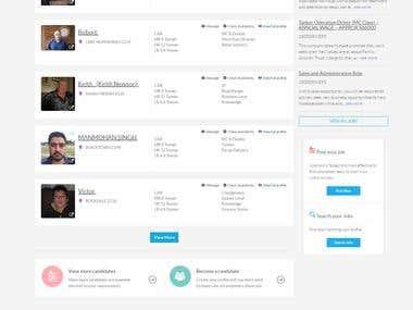 B2C Portal :- Angular/YII Framework (www.jobdroid.co)