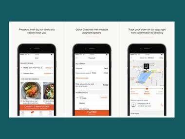 FreshMenu: Fresh Meal Delivery Application for iPhone