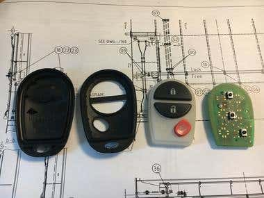 Toyota keyless Re-design cover.