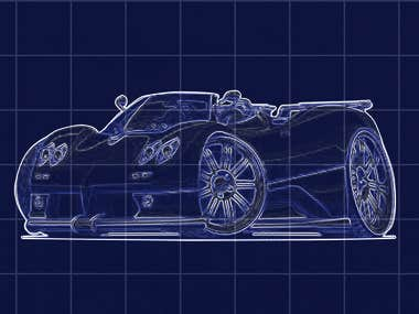 Blueprint Car