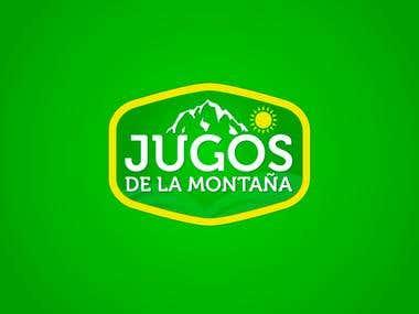 Logo Design - Jugos la Montaña