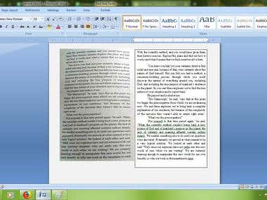 Copy typing scanned img to word