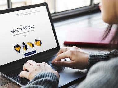 Sitio Web para la empresa Safety Brand