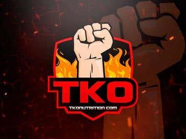 Logo Design TKO NUTRITION