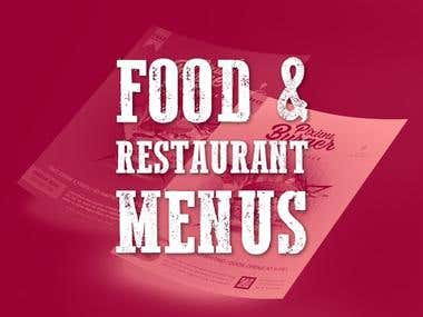Food & Restaurant Menus