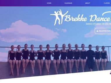 Brekke Dance Center Website