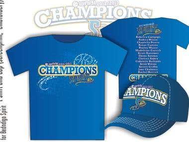 Bendigo Spirit Champions t-shirt