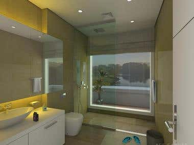 Bathroom-3d Visualization