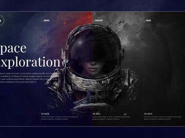 Space website banner design