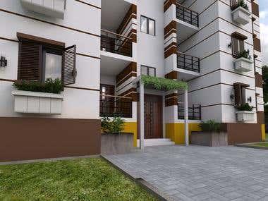 building 3d exterior
