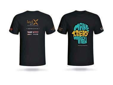 T shirt Design for HackX 2017