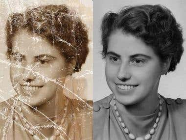 Restoration of photos of any complexity.