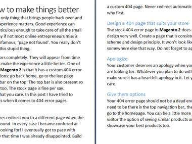 404 error page for Magento 2 website