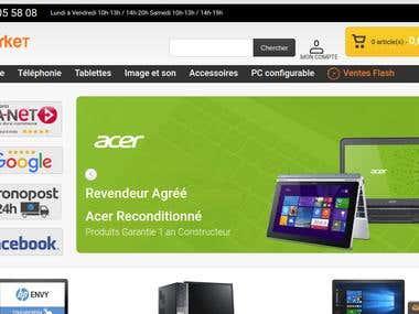 Magento1 store - pcmarket.fr