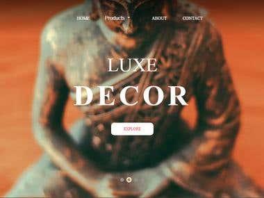 New Luxe tableware website