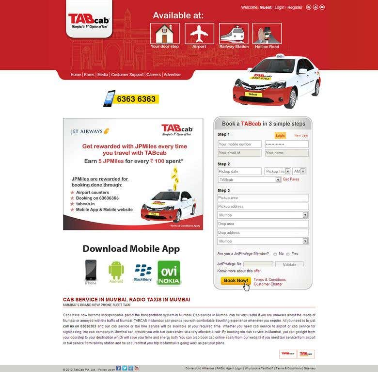 Tab Cab | Freelancer