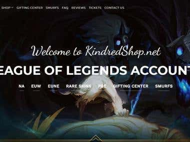 KindredShop - WordPress site with Wocommerce