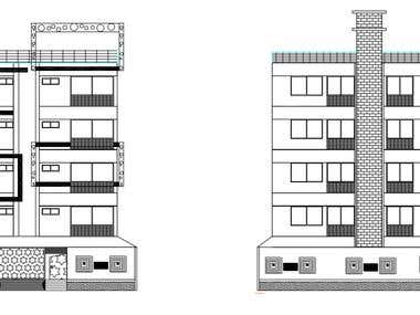 Elevation & Structural Drawing