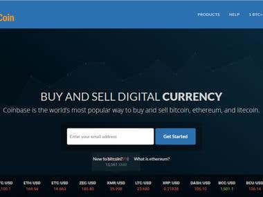 Cryptocurrency,Bitcoin ,blockhain,Coinbase API integration