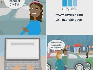Character Animation Explainer for CityBldr Real Estate App