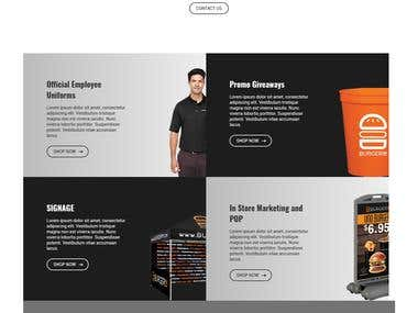 Ecommerce website Burgerim Store