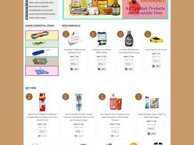 ecommerce - grocery selling online web portal