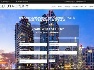 Real estate website (property website)