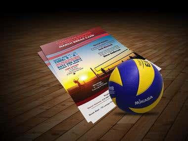Volleyball Flyer Design