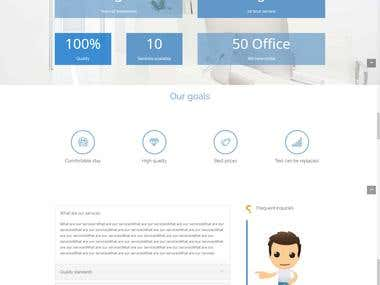 design WordPress one page template For booking offices .